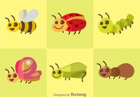 Cute Vector Insects