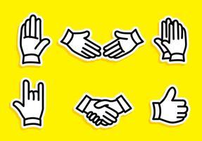 Icone di vettore del profilo di scossa della mano