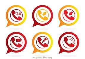 Icone di chiamata vettoriale