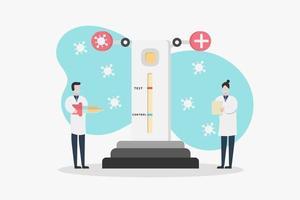 scienziati medici che analizzano il test covid-19