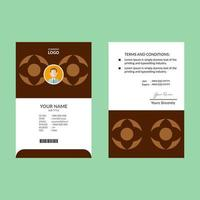 carta d'identità geometrica marrone chiaro e scuro vettore