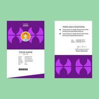 carta d'identità viola di forme geometriche vettore