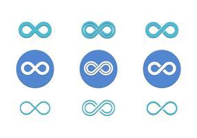 Icona piana di vettore del ciclo infinito