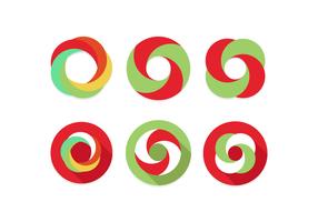 Icona minima di vettore del ciclo infinito piatto