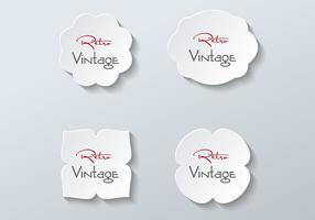 Vettore di etichette di carta gratis
