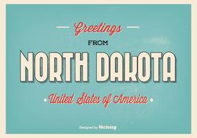 Illustrazione tipografica di saluto del Dakota del Nord