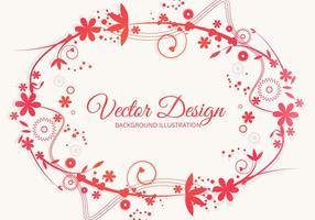 Vettore di stile floreale colorato