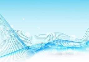 Vettore astratto dell'onda blu-chiaro