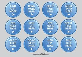Set di icone Web rotondo