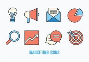 Pacchetto di icone di marketing vettoriale