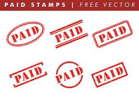 Francobolli a pagamento vettoriali gratis