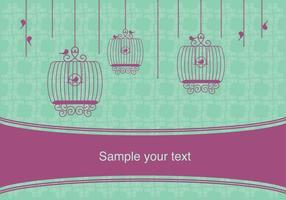 Disegno vettoriale vintage con gabbie per uccelli