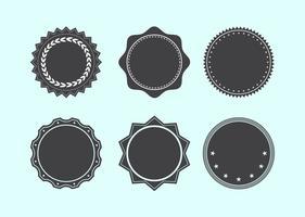 Set di forme di badge assortiti
