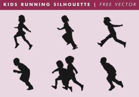 Vettore corrente della siluetta dei bambini che corre