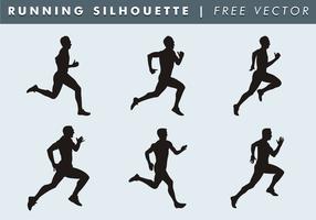 Esecuzione di Silhouette vettoriali gratis