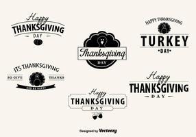 Distintivi del giorno del ringraziamento vettore