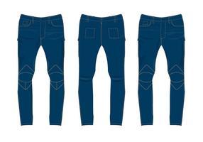 Jeans pantaloni vettoriali gratis