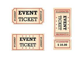 Biglietti gratuiti Set vettoriale