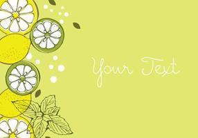 disegno di sfondo di limone vettore