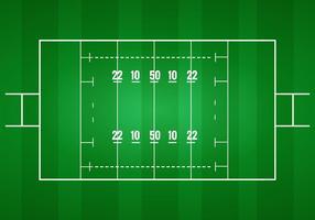 vettore del campo da rugby