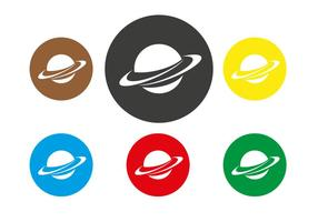 Saturn Planet Icon Vector