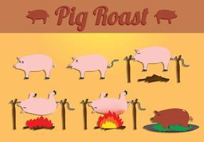 Vettori di maiale arrosto