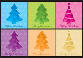 Modelli vettoriali albero di Natale