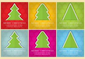 Carte vettoriali albero di Natale