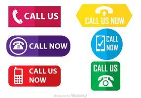 Chiamaci icone vettoriali piatte