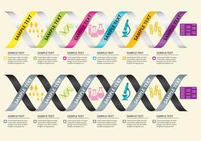 Vettori di infografica del DNA