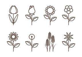 Vettori di contorno di fiori