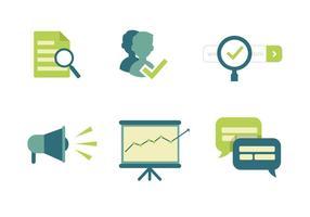 Icone di marketing vettoriale