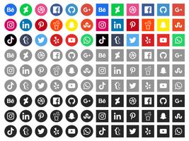 Icone gratis di social media