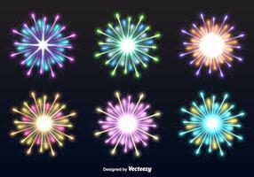 Esplosioni di fuochi d'artificio vettore