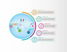 Mappa di vettore di infografica