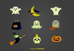 Icone del fumetto di Halloween vettore