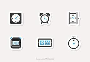 Icone di vettore di tempo e orologio