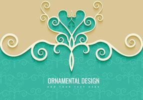 Sfondo decorativo ornamentale vettore