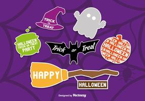 Scrapbook stile icone di Halloween vettore