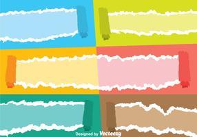 Vettori di carta a colori strappati
