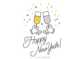 Carta di vettore di felice anno nuovo gratis