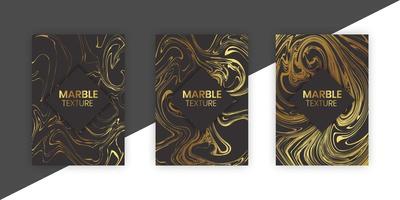 rivestimento in marmo incastonato in nero e oro vettore