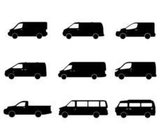 set di icone di van vettore