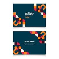 modello di relazione annuale geometrica vettore
