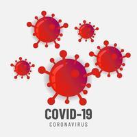 sfondo di pandemia di coronavirus vettore