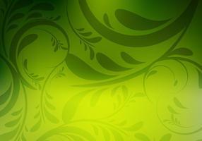 Sfondo colorato verde floreale vettore