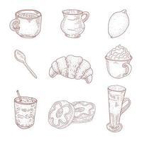 collezione di caffetterie vintage