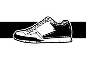 Vettore freddo delle scarpe da tennis degli uomini