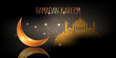 mezzaluna di Ramadan Kareem vettore