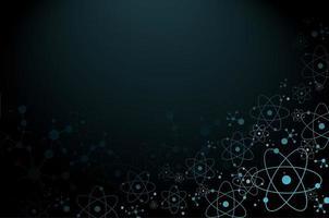 Priorità bassa della molecola di atomo di scienza vettore